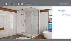 Check out the Virtual Spa Tool via Mr. Steam and create your dream steam shower. #Bathdesign #Spabath #Spa