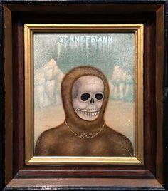 "SCHNEEMANN, Fred Stonehouse. Acrylic on Panel, image 9 3/4 x 7 3/4"" framed 13 1/2 x 11 1/2"""
