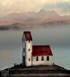 Church in Arnessysla, Iceland.
