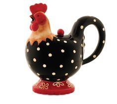 Cockadoodle Doo Teapot i dont have this pc but i have pcs  to a set like this, same decoration on them