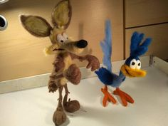 Sieh dir dieses Produkt an in meinem Etsy-Shop https://www.etsy.com/de/listing/607397713/needle-felted-animal-road-runner-wile-e