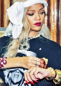 Loving all of Rihanna's accessories.