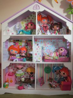 Custom Doll house for lalaloopsy's. We have this as a bookshelf. Cant wait to make it into a lalaloopsy house!