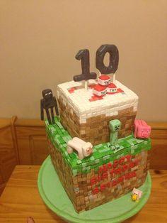 Minecraft cake — Birthday Cakes