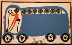 Orange Hill Folk Art Gallery and Outsider Art Gallery - Annie Tolliver - Bus