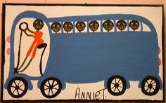 Orange Hill Folk Art Gallery and Outsider Art Gallery - Annie Tolliver - Bus
