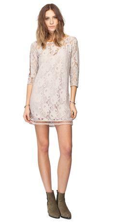 Gentle Fawn Hawk Lace Mini Dress   Ash