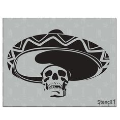 This easy-to-use Mexican Skull Stencil from is perfect for walls, home decor, clothing and more. Each stencil is cut high quality in order to provide a long lasting design. The possibilities of what you can create with a stencil are endless. Tattoo Stencils, Stencil Art, Stencil Designs, Mexican Skulls, Mexican Art, Sugar Skull Stencil, Mexican Tattoo, Chicano Art, Deer Skulls