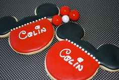 Mickey Mouse Decorated Sugar Cookies
