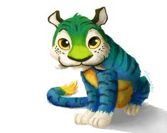 Croods: Chunky the Tiger by tamaraR.deviantart.com on @deviantART
