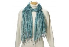 Aqua Open Weave Scarf.    Can purchase at tenthousandvillages.com.  They're an amazing retailer that works to create opportunities for artisans in developing countries to earn income by bringing their products and stories to their markets through long-term fair trading relationships.