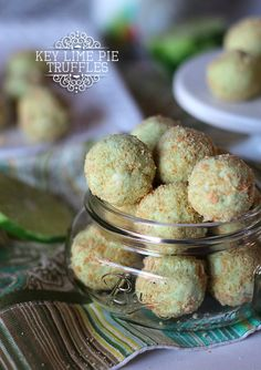 Key Lime Pie Truffles.  Basically poppable pie!