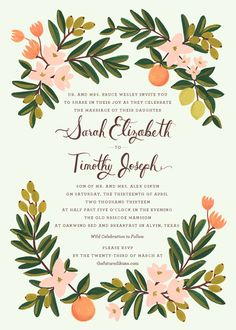 Ideas for wedding invitations floral rifle paper co Wedding Party Invites, Floral Wedding Invitations, Wedding Stationary, Wedding Invitation Cards, Wedding Paper, Wedding Cards, Rifle Paper Company, Card Envelopes, Floral Invitation
