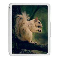 White Squirrel iPad 2 Cover