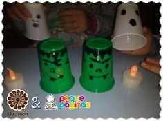 Linternas halloween manualidades Mallorca con niños