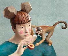 Sculpture en clay, proportions de films d'animation 3D limite Botero