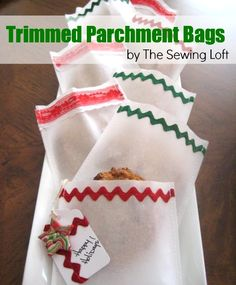 Trimmed Parchment Bags by The Sewing Loft