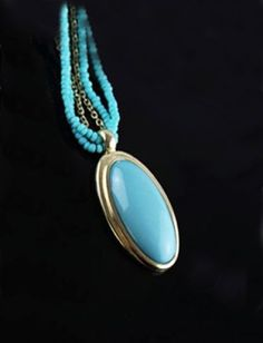 Blue Gemstone Multilayer Chain Necklace pictures