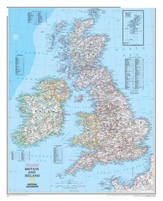 "Hot sale RZ-DT-064 ""Britain and Ireland map"" wall oil painting on canvas wall pictures for living room cuadros decoration poster #Affiliate"