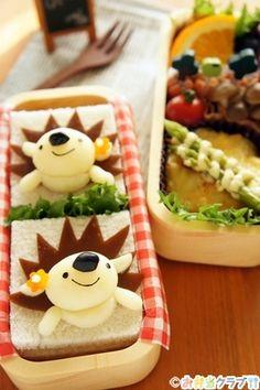 お弁当 レシピ | はりねずみのサンドイッチ弁当 | キャラクター弁当 | found MUM(ファウンド マム)