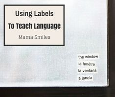 Use labels to organize language learning from Mama Smiles