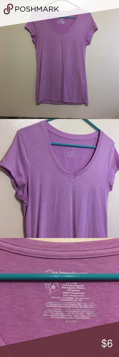 No Boundaries top Like new. Beautiful purple. V neck. Size large. Smoke free home. No Boundaries Tops Tees - Short Sleeve