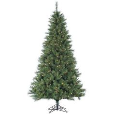 Fraser Hill Farms Smart String Pre-Lit Canyon Pine Artificial... ($959) ❤ liked on Polyvore featuring home, home decor, holiday decorations, green, holiday home decor, holiday decor, traditional home decor and white home accessories