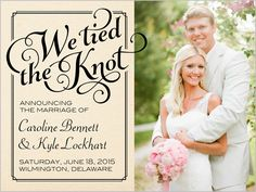 With nearly 200 unique styles and designs, Shutterfly allows you to share your good news in style! Save Up to OFF + 10 free cards on custom wedding announcements today! Marriage Announcement, Elopement Announcement, Wedding Announcements, Post Wedding, Elope Wedding, Dream Wedding, Wedding Day, Wedding Stuff, Wedding Venues