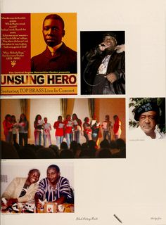 "Athena yearbook, 2006. ""Black history month."" :: Ohio University Archives"