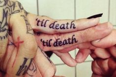 Cute Matching Couple Tattoos Quotes - Cute Matching Couple Finger Tattoos