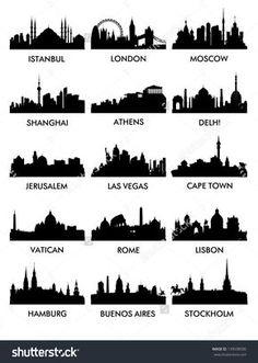 city silhouette vector3(15)