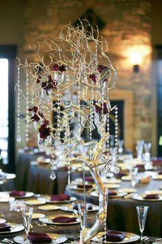 luxury rustic ballroom wedding reception decor; Featured: JC Page Photography