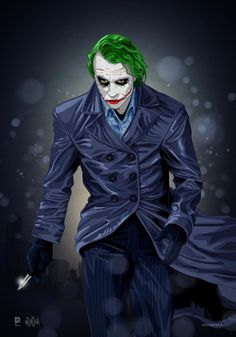 I was always more intrigued by the Joker's serious side. I never was a fan of the skinny, funny type portrayed in most of the classic are comics. The Joker (Heath Ledger Tribute) Le Joker Batman, Batman Joker Wallpaper, Heath Ledger Joker, Joker Wallpapers, Joker Art, Gotham Batman, Batman Art, Batman Robin, Iphone Wallpapers