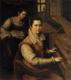 FONTANA, Lavinia Self-Portrait at the Spinet 1577 Oil on canvas, 27 x 24 cm Accademia di San Luca, Rome