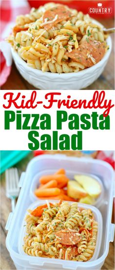 Kid-Friendly Pizza Pasta Salad with Borden® Cheese recipe from The Country Cook! #ad #backtoschool #pastasalad #easy #kidfriendly #lunch