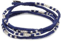 M.Cohen Hand made Designs Multi Wrap Blue Cord with Sterling Silver Bead Bracelet M.Cohen Handmade Designs. $133.00. Made in United States. One size with sterling silver coin toggle closure. Remove before showering to maintain best condition. Hand made in the United States. All measurements are approximate as the items are hand made and therefore may varyslightly