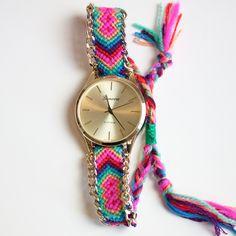 """Friendship Bracelet"" Maya Print Watch (4 colors available)"