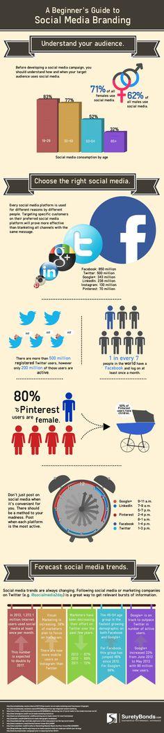 Social Media Branding Guide for Beginners #socialmedia #infographic