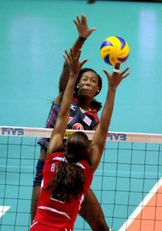 Destiny Hooker is an AMAZING Olympic volleyball player on the American team