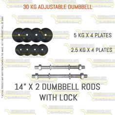 30 kg adjustable dumbbell set #Treadmill #Dumbbells #Fitness #Bench #exercise #Equipment #Gym