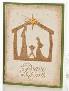 Nativity Christmas Card on canvas by dianne