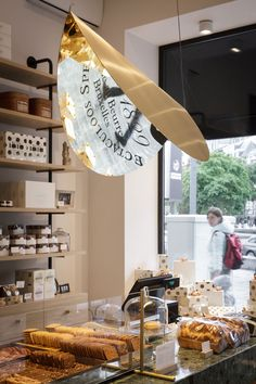 Belgium, Maison Dandoy in Brussels, renowned Belgian biscuits. Lamp design Nathalie Dewez.