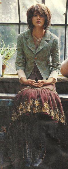 Anthropologie Lithe Wintergarten Skirt and her hIr Fashion Photo, Boho Fashion, Fashion Beauty, Boho Outfits, Vintage Outfits, Fashion Outfits, Dress Skirt, Dress Up, Anthropologie Clothing