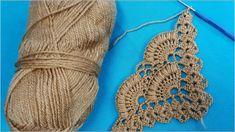 Tığ işi midye kabuğu şal modeli Crochet Flower Tutorial, Diy Crochet, Crochet Crafts, Crochet Projects, Diy Crafts, Crochet Buttons, Crochet Stitches, Crochet Patterns, Crochet Shawls And Wraps