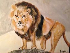 Lion in winter by Patsy Cain 2015