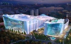 The world's largest indoor ski resort will coming to Shanghai, China---via Dubai Interesting Buildings, Amazing Buildings, Kirkwood Ski, Tahoe Ski Resorts, Ski Park, Open Hotel, Future Buildings, Great America, Futuristic Architecture