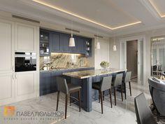 Фото кухня из проекта «Дизайн квартиры в жилом комплексе «ММДЦ Москва Сити», американская классика, 120 кв.м.»