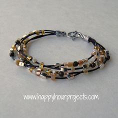 Bead & Leather Bracelet