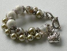 Sophie Handmade Beaded Bracelet Agate by bdzzledbeadedjewelry, $36.00