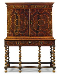 A William and Mary olivewood and walnut cabinet on stand circa 1690 | lot | Sotheby's